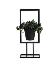 Black Design Rune Blomsterpotte Stand Sort_H49cm