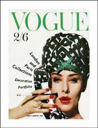 Vogue Poster March 1960, 60x46cm