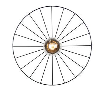 Globen Lighting Lysplafond Wheel Sort Ø55cm (205-460411)