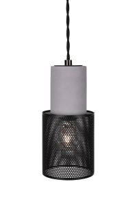 Globen Lighting Lampependel Mini Rumble, Betong-Sort (205-348911)