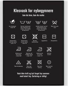 Happy Star Plakat Klesvask for nybegynnere_Sort (474-150)