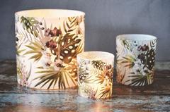 Trend Design Lysholder m/blomster Hvit_11cm