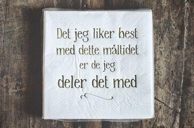 """Trend Design Serviett """"Måltid"""", Hvit/ Gullrykk (298-C67803)"""