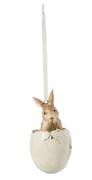 Clayre & Eef Hare i egg, 10cm