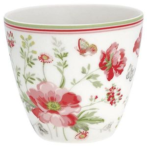 GreenGate Meadow Latte Kopp, Hvit (478-STWLATMEA0106)