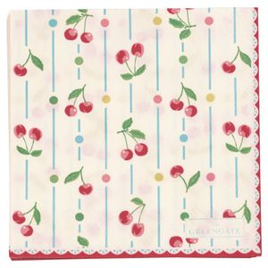 GreenGate Cherry Servietter Small, 20stk (478-PAPNAPSCHE0112)