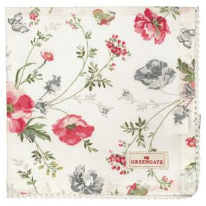 GreenGate Meadow Serviett med blonder (478-COTNAPWLMEA0108)