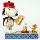 "Jim Shore Snoopy og Woodstock ""Campfire-friends"""