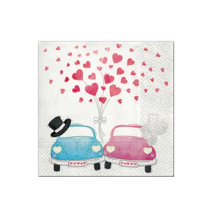 "BC Servietter ""Cars In Love""_20stk (153-106280)"