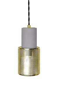 Globen Lighting Lampependel Mini Rumble, Betong-Messing (205-348965)