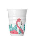Summer Love Flamingo Plastkopper, 200ml (8stk)