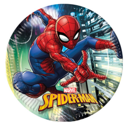 Spiderman Team Up Papptallerkener, store (23cm) 8stk