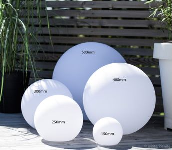 Trend light LED-ball med solcelle, 400mm (422-W-B400S-SOLAR)