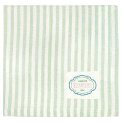 GreenGate Alice Stripe Serviett_Lys Grønn