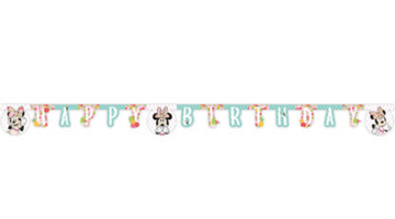 "Minnie Mus Tropical ""Happy Birthday""- banner (1stk)"