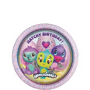 Hatchimals Papptallerkener,  medium (18cm) 8stk (332-HATCPLAT)