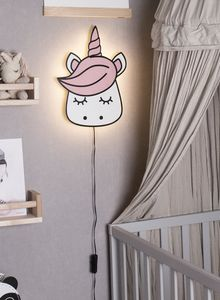 Globen Lighting Vegglampe Unicorn Rosa, H33cm (205-131304)