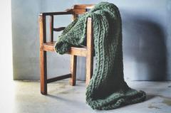 Trend Design Pledd Grovstrikket 127x152cm, Grønn