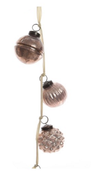 Kaemingk Girlander Glasskuler, Blush Pink