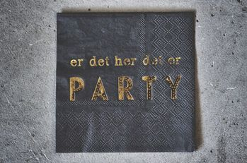 "Trend Design Servietter ""Party"" Sort 33x33cm"