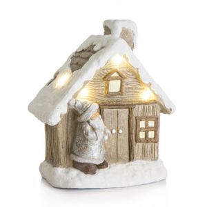 XMAS Collection Hus med LED H38cm (220-243073)