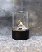 Tenderflame Glasslampe Tower 10cm Sort