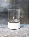 Tenderflame Glasslampe Tower 10cm Hvit