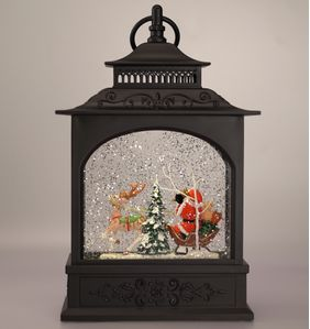 XMAS Collection Lanterne m/LED-lys Julenisse,  H31cm (482-PT-22100)