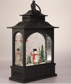 XMAS Collection Lanterne m/LED-lys Snømann, H31cm