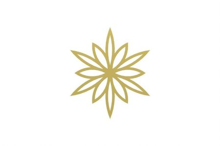 COOEE Skira2 Snowflake 4stk, Brass (389-skira2-6cm-brass)
