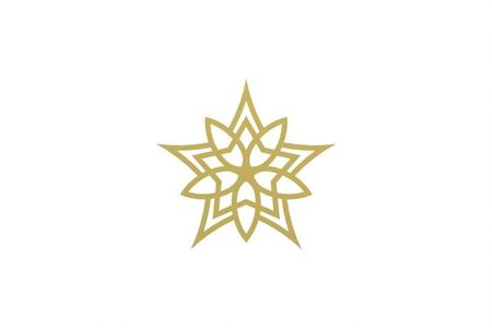 COOEE Skira4 Snowflake 4stk, Brass (389-skira4-6cm-brass)