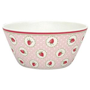 GreenGate Bambus Strawberry Bolle Rosa_Ø14.7cm (478-BAMBOWSSTB1904)