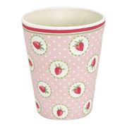 GreenGate Bambus Strawberry Kopp H9.5cm
