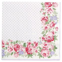 GreenGate Rose Servietter Hvit