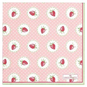 GreenGate Strawberry Servietter 20stk (478-PAPNAPSSTB1912)