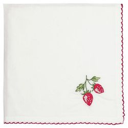 GreenGate Strawberry Serviett/ Brikke_med broderi