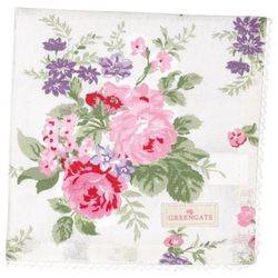 GreenGate Rose Serviett/ Brikke Hvit