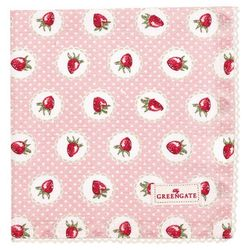 GreenGate Strawberry Serviett/ Brikke Rosa