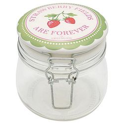 GreenGate Strawberry Krukke 0,5ltr