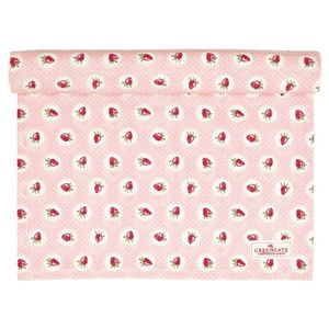 GreenGate Strawberry Bordløper Pale Pink (478-COTTAR140STB1904)