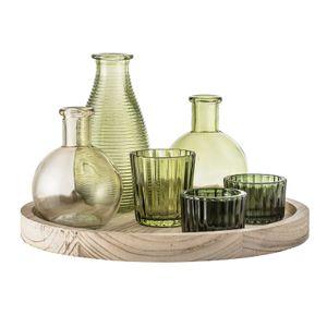 Bloomingville Lysestaker+vaser med trefat Ø25cm (152-27405303)
