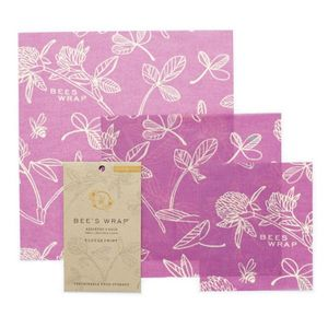 Bees Wrap Bivoksark 3stk Purple, Small-Medium-Large (522-bw-3pk-clover)