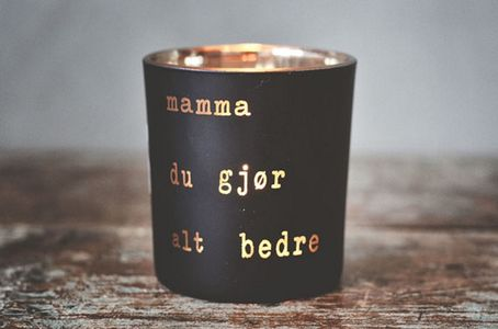 "Trend Design Telysholder ""Mamma"" Sort H8cm (298-381921)"