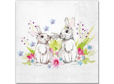 BC Servietter Bunnies in Love (153-106284)