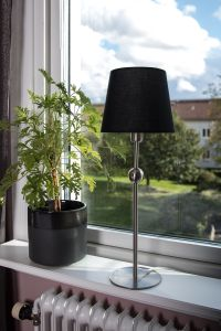 Globen Lighting Bordlampe Astrid Krom_Svart skjerm (205-222952_781211)