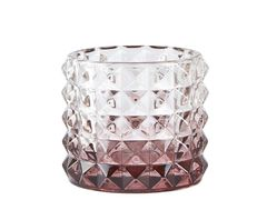 Villa Collection Telysholder Glass Plomme H6cm