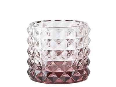 Villa Collection Telysholder Glass Plomme H6cm (379-340761)
