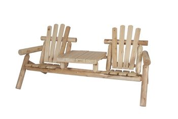 Canadian Outdoor Log Toseter og Bord (340-2525)