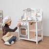 New Classic Toys Lekekjøkken Bon Appetit, Hvit-Sølv (262-11053)