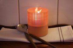 Tenderflame Lampe Lilly Orange Print_10cm